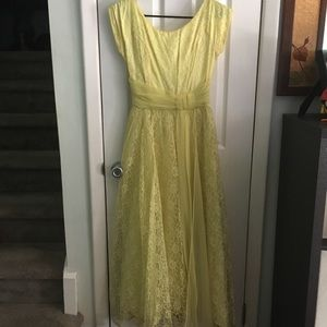 Vintage Buttercup Lace Prom / Party Dress